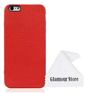 iPhone 6 Plus Case,Red Gel Silicone Soft TPU Case Cover Skin Protective For Apple iPhone 6 Plus 5.5 inch With A Free Cleaning Cloth As a Gift
