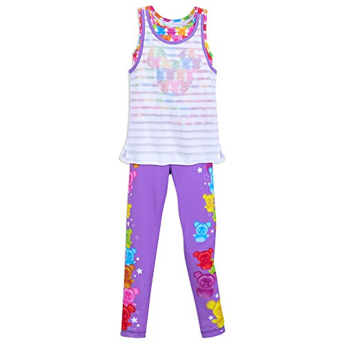 (Disney Mickey Mouse and Minnie Mouse Tank Top and Leggings Set for Girls Size 5/6 Multi)