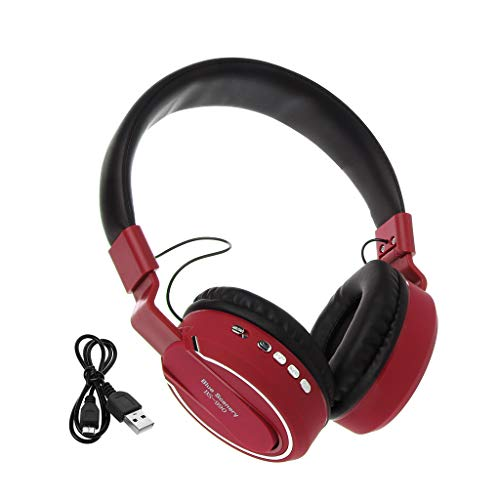 Wireless Bluetooth Headphone Stereo Sound with Mic TF Card Micro Gaming Headset Earphone for Game