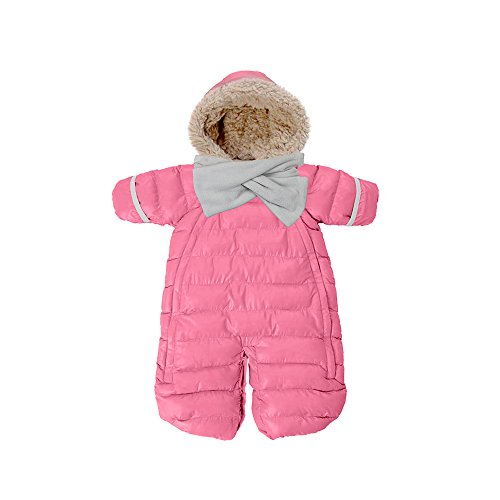 7 A.M. ENFANT Doudoune One Piece Infant Snowsuit Bunting, Candy, Mediano