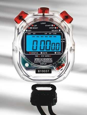 Sper Scientific Electro-Luminescent Digital Stopwatch, Water Resistant