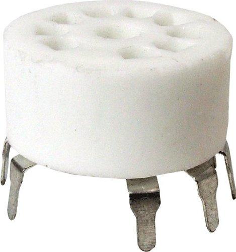 (Vacuum Tube Socket, 9 Pin/Miniature, Ceramic, PC Mount )