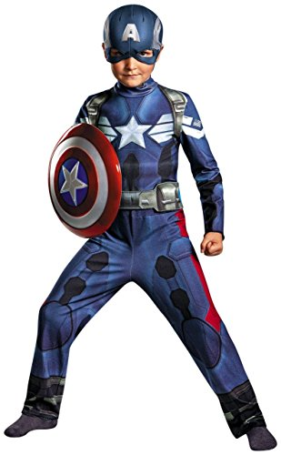 Disguise Marvel Captain America The Winter Soldier Movie 2 Captain America Classic Boys Costume, X-Small (3T-4T)