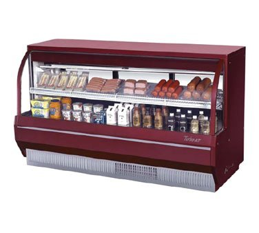 (Turbo Air TCDD-96-4-L Curved Glass Refrigerated Deli Display Case)