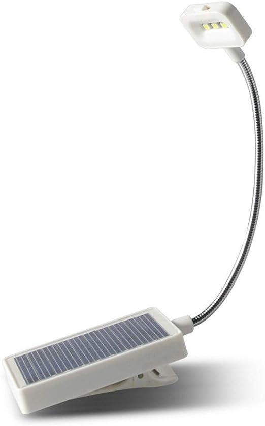 Luz solar portátil para libro, carga USB, lámpara de ...