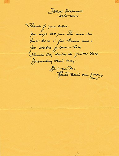 AUTOGRAPH LETTER SIGNED by Dutch-born American writer, journalist and illustrator HENDRIK WILLEM VAN LOON.