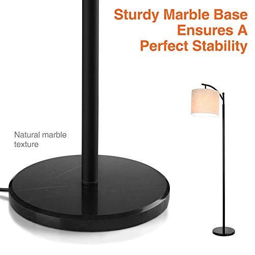 Zanflare LED Floor Lamp-Classic Arc Floor Lamp with Hanging Lamp Shade, Uplight Lamp for Living Room,Bedroom,Den Office, Energy Saving Bedside Lamp with Long Lasting,Black by Zanflare (Image #8)