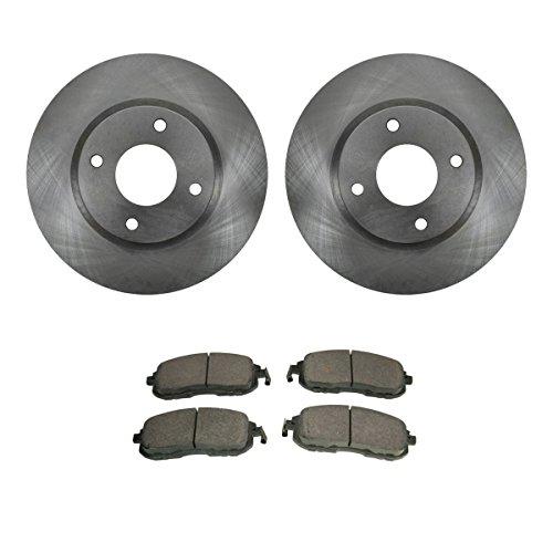 Front Premium Posi Ceramic Brake Pads & Rotors Kit Set for Nissan - Nissan Sentra Front Brake