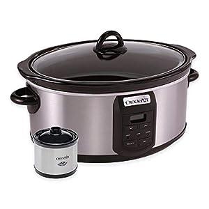 Crock-Pot SCCPVS703-S 7-Quart Programmable Slow Cooker with Little Dipper Warmer, Stainless Steel