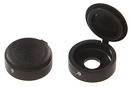 15-Pack The Hillman Group 59047 Hinge Screw Cover Number 8//Number 10 Black