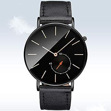 HDUSHA Relojes Hombres Relojes Estudiantes Ultra-Thin Quartz Men Relojes Impermeable Cinturón No Mecánico,
