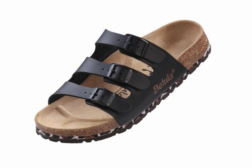 Betula slippers Woogie in size 39.0 N EU made of Birko-Flor in Black with a narrow insole