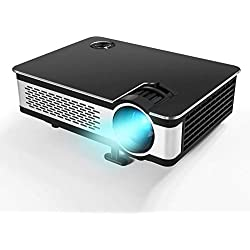 "1080P Projector.Updated 5.5"" HD Video Projector with 210"" Display 3500 Lumens Projectors with 60,000 Hours Lamp Life,Home Cinema Theater Support Smartphones Blu-ray DVD Laptaps Amazon Fire TV Stick-B"