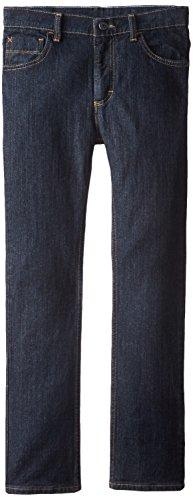 Wrangler Little Boys' Authentics Regular Straight Jeans, Rinse Riot, 6