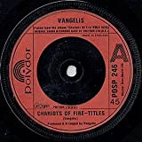VANGELIS 45 RPM Eric's Theme / Chariots Of Fire - Titles
