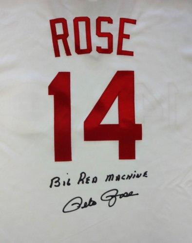 - CINCINNATI REDS PETE ROSE AUTOGRAPHED WHITE MAJESTIC JERSEY