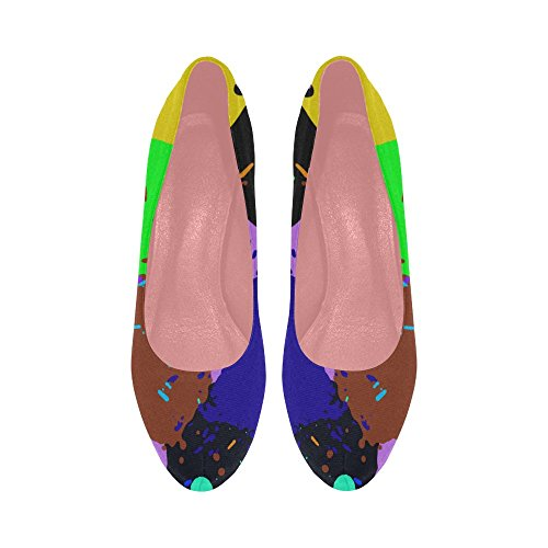 Graffiti Colorful Shoes Prin Dream Catcher High InterestPrint Color10 Pattern Wedge Ethnic Leaf Womens Heel Pumps gOOYq0P