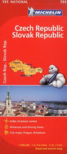 Michelin Czech & Slovak Republic Map 731 (Maps/Country (Michelin))