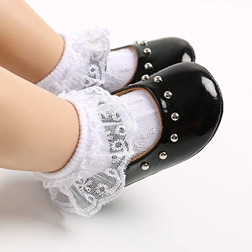 Infant Toddler Baby Girl Shoes Soft Sole Princess Mary Jane Shoes Prewalkers Wedding Dress Shoes Crib Shoes