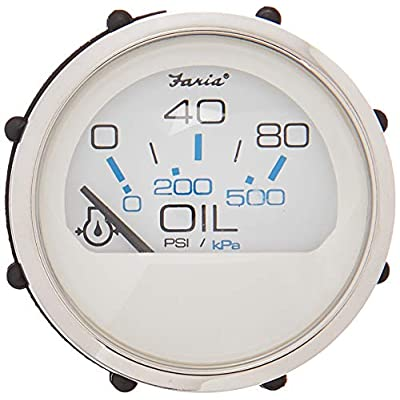 Faria 13802 Chesapeake 80PSI Oil Pressure Gauge: Automotive