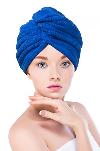 by Towel Master Lightweight Towel Master Turban Hair Towel,Spa Days Luxury Absorbent Pink