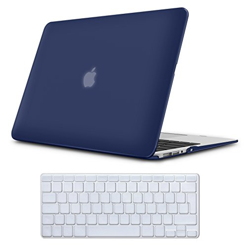 MacBook Air 13 Case Navy Blue , iCasso Pure Color Series Ultra Slim Plastic...