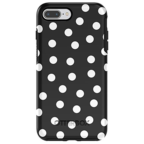 OtterBox SYMMETRY SERIES Case for  iPhone 8 Plus & iPhone 7 Plus (ONLY)  - DATE NIGHT (BLACK/WHITE POLKA DOT GRAPHIC)