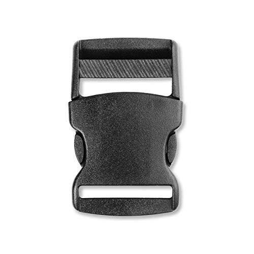 Side Release Buckles Plastic Webbing Buckle for Backpack Bag (32mm, 2 PCS)