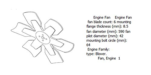 Engine fan 4931785 for diesel engine: