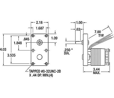 AC Gearmotor, 100 rpm, Open, 115V - Electric Fan Motors ... on