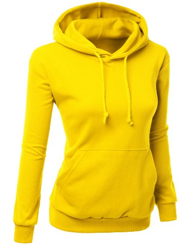 Women Colorful and Comfortable Simple Design Sweatshirt Yellow ()