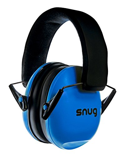 Snug Kids Earmuffs / Best Hearing Protectors - Adjustable Headband Ear Defenders For Children and Adults (Original Blue)