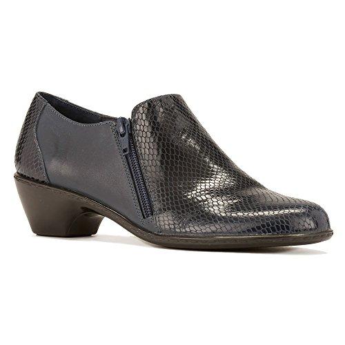 Walking Cradles Women's Cadence Slip On,Navy Patent Snake Print Leather,US 7.5 (Navy Snake Leather Footwear)