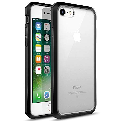 Tecneca Phone Case Compatible iPhone 6 / 6s, TPU Bumper + Acrylic Backplate Shock Absorption Anti-Scratch Cover Case - Clear/Black