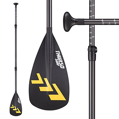 THURSO SURF Carbon SUP Paddle 3 Piece Adjustable Carbon Fiber Shaft Stand Up Paddle Light Excellent Performance by THURSO SURF