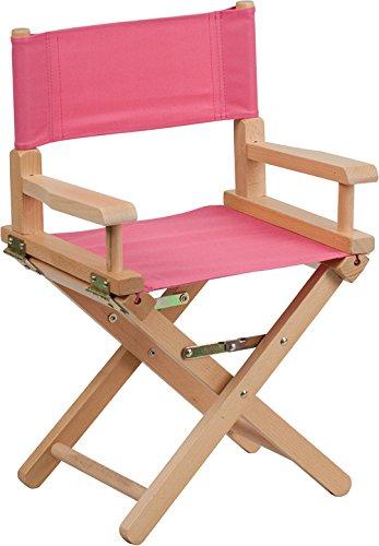 discountroomdecorプレミアム品質Kidsピンクダイレクタ椅子tyd03-pk-gg B07219V7J3
