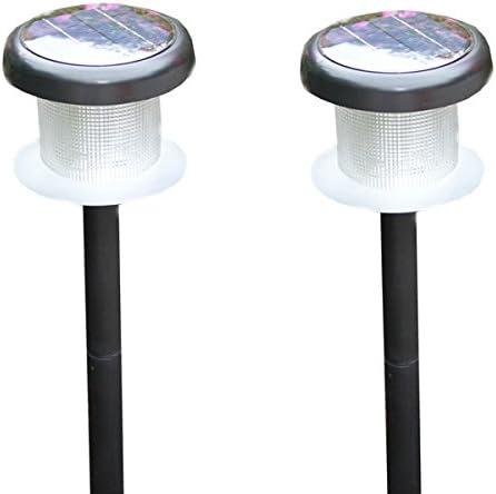 Captelec - Balizas de luz solar para jardín (2 unidades, 67 cm, 4 LED): Amazon.es: Hogar