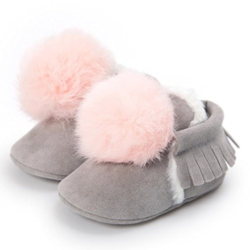5359e900ac4 SUKEQ Baby Girl Boys Warm Comfortable Cotton-padded Shoes Anti-slip Ball  Tassels Sneaker