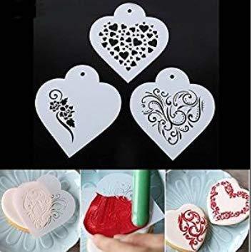 september-europe Kunststoff Kuchen dekorieren Schablone Backen Werkzeug Nachtisch Vorlage Formenbau SK-55087 Kaffee Fondant Kuchen