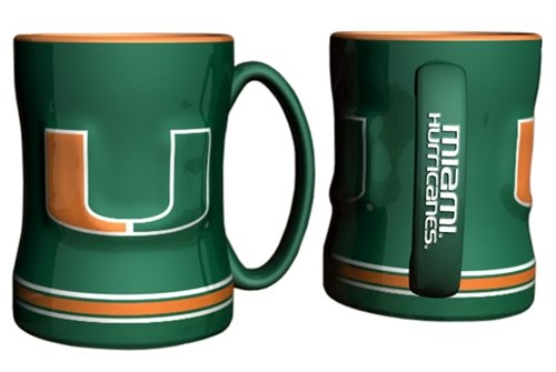 Hurricanes Coffee Mug (Miami Hurricanes Coffee Mug - 14oz Sculpted)