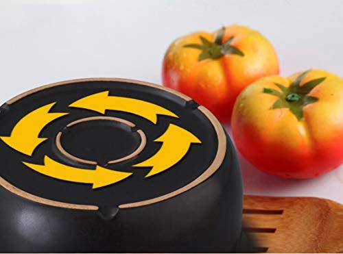 GJJ High Temperature Heat-.Resistant Ceramic Soup Pot Casserole, Natural Health Casserole, Pot Ceramic Pot,Black,3 Liters by GJJ (Image #7)