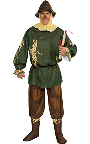 Wizard Of Oz Halloween Costumes For Adults (Rubie's Costume Wizard Of Oz 75th Anniversary Edition Adult Scarecrow, Multicolor, One Size Costume)