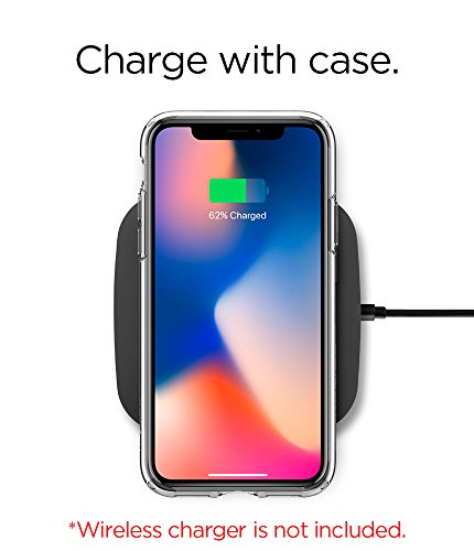 Spigen Ultra Hybrid iPhone X Case with Air Cushion Technology and Hybrid Drop Protection for Apple iPhone X (2017) - Crystal Clear by Spigen (Image #2)