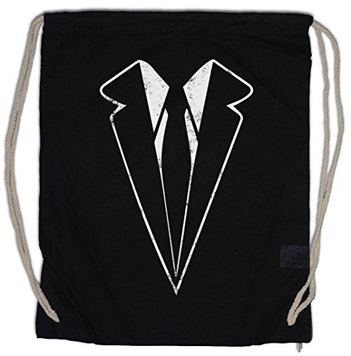 Suit Drawstring Bag Gym Sack -