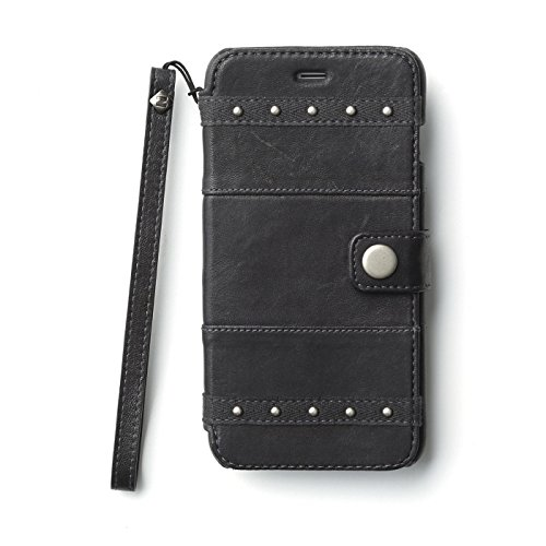 Two Tone Lamb (Zenus Bohemian M Diary Genuine Two-tone Lamb Leather [Dark Grey] Cover Case with Hand Strap for Apple iPhone 6 + Plus 5.5