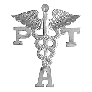 NursingPin Physical Therapist Assistant PTA Graduation Lapel Pin in Silver