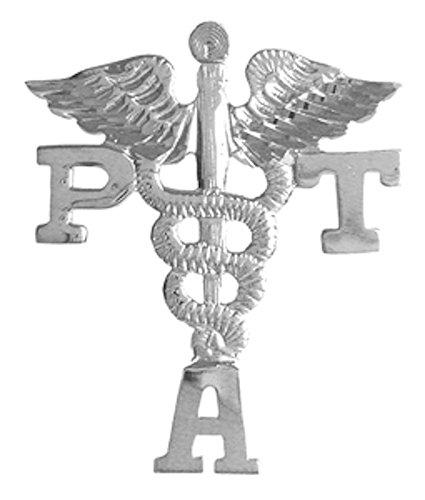 NursingPin Physical Therapist Assistant PTA Graduation Lapel Pin in Silver