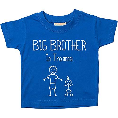 Big Brother-T-shirt, blauw, voor baby's, peuters, verkrijgbaar in maten van 0-6 maanden voor 14-15 jaar