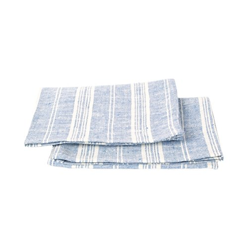 LinenMe Multi Stripe Linen Hand & Guest Towels, 18 by 28