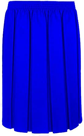 L XL UK M XXL Miss Chief Ages 2-20 Girls Ladies School Box Pleated Formal Elasticated Skirt